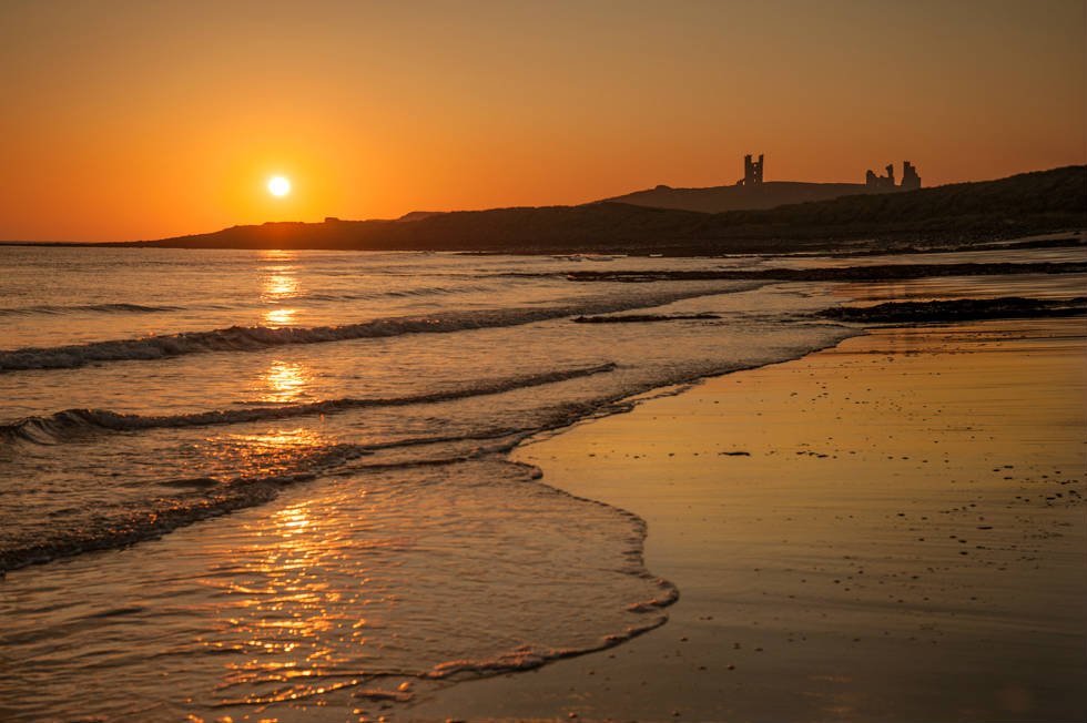 Dawn at Dunstanburgh Castle Northumberland