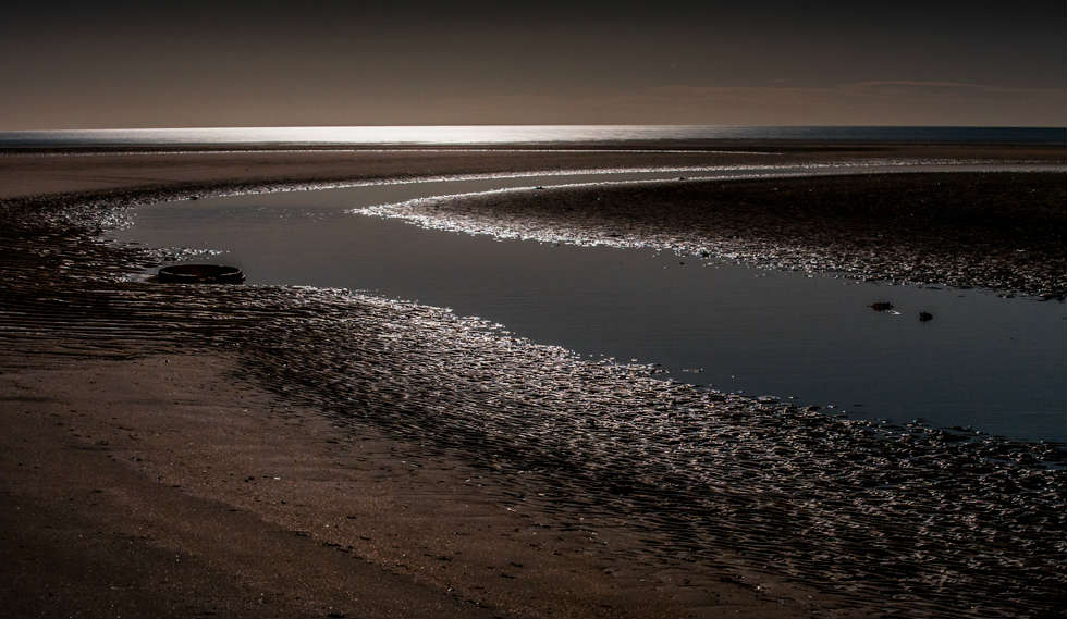 Moonlit Beach Alnmouth Bay Northumberland