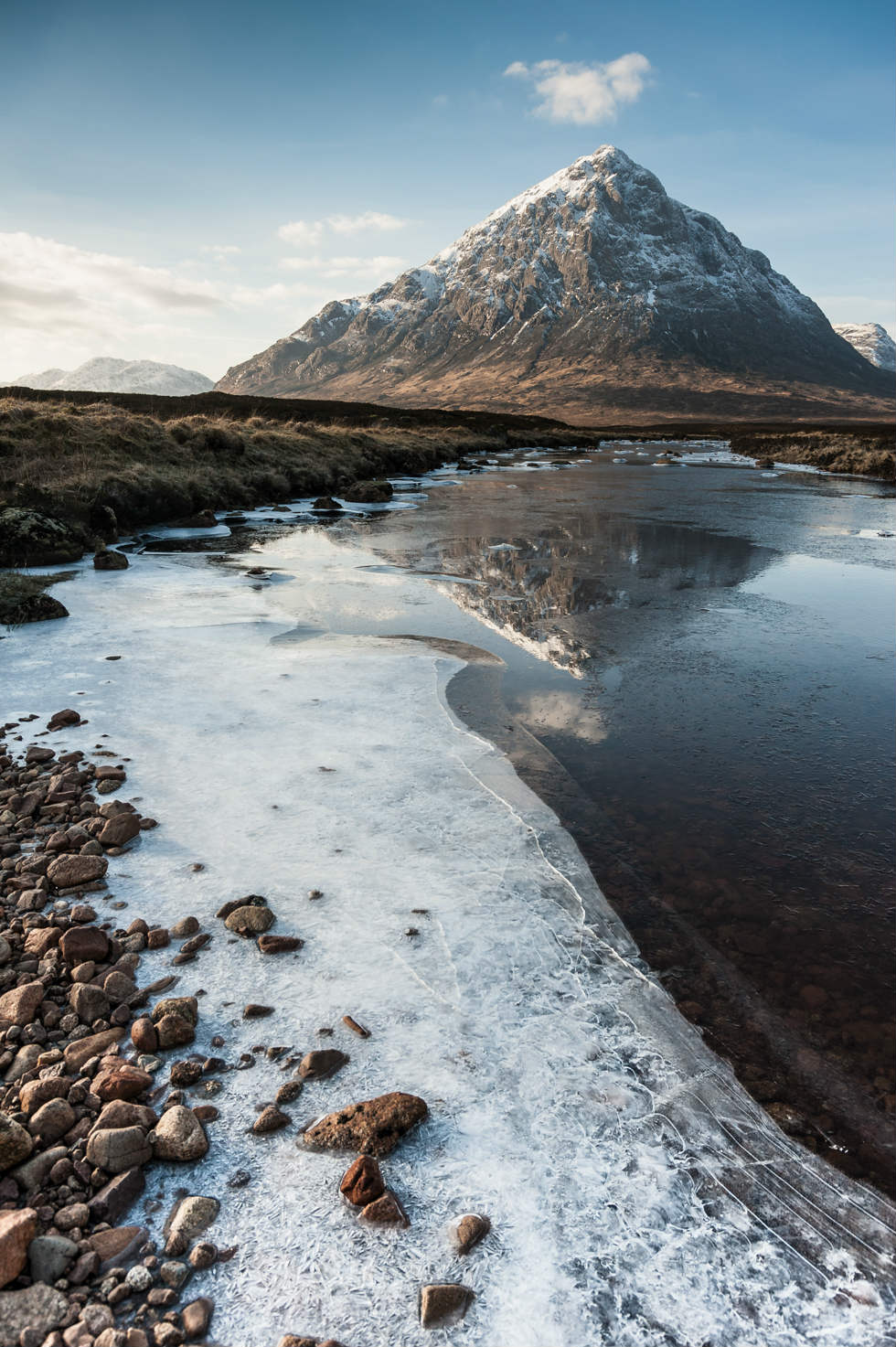 Wintry Reflections Buachaille Etive Mor